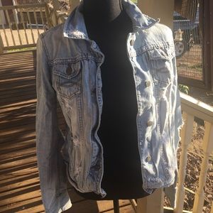 Abercrombie and Fitch distressed jean jacket